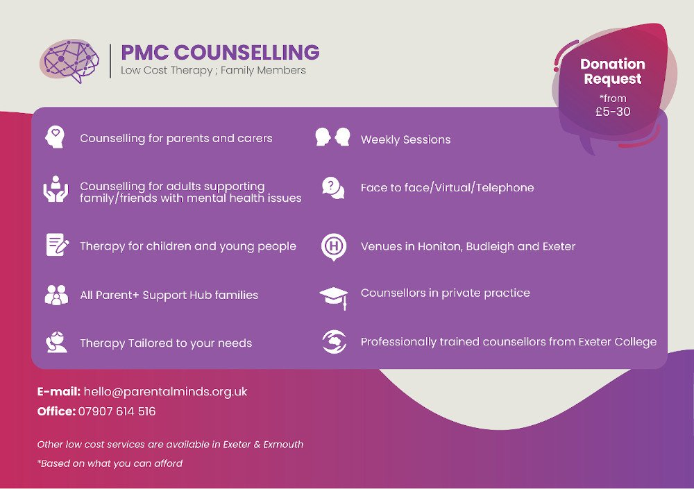 Parental Minds Counselling service - Counselling for parents and carers